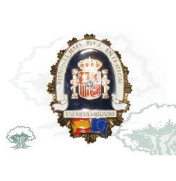 Chapa (Placa) para cartera ESCOLTA PRIVADO - Bandera de España y Europa